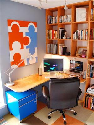 escritório pequeno planejado