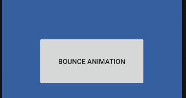 android - Button bounce animation