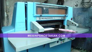 Harga mesin potong kertas Wohlenberg
