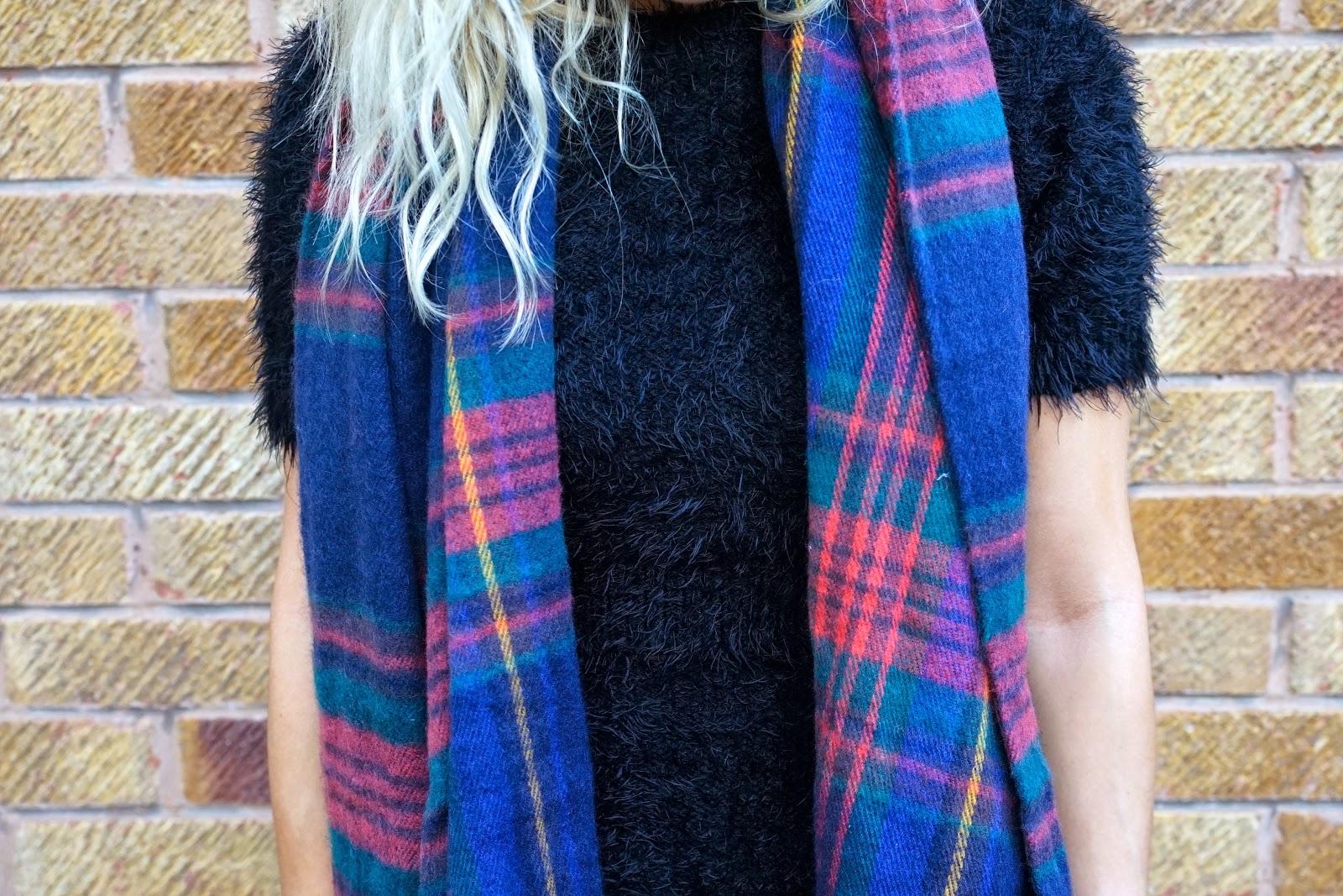 tartan primark scarf