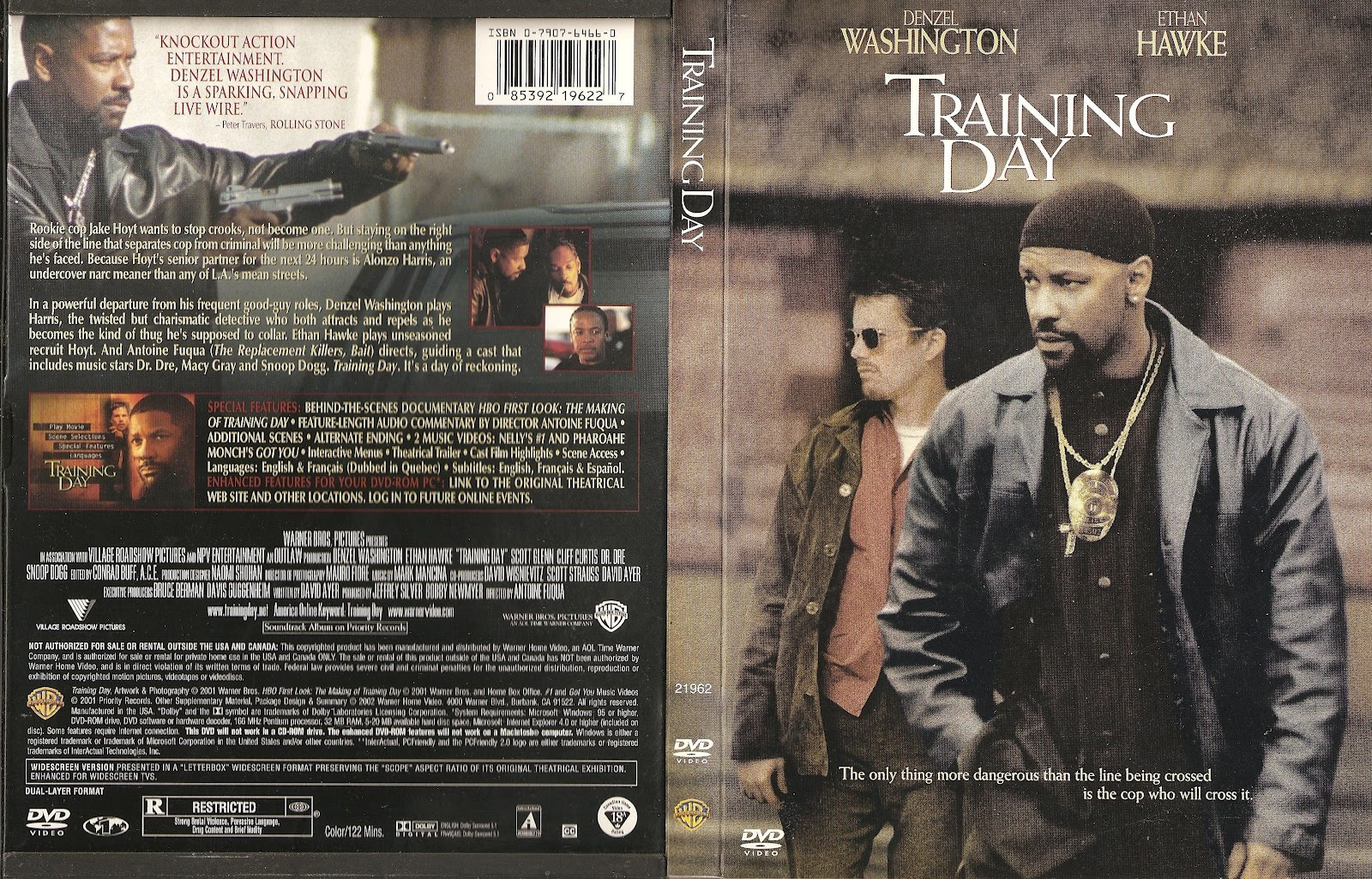 Training Day (2001) | Movie Poster and DVD Cover Art