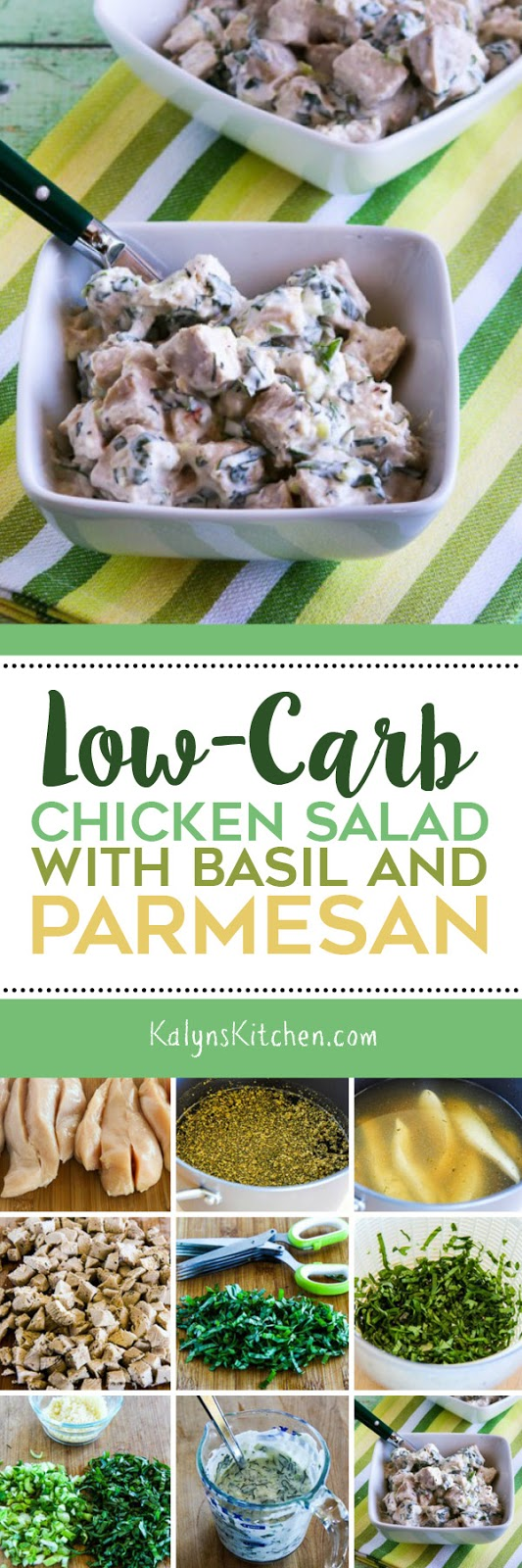 Low-Carb Chicken Salad with Basil and Parmesan found on KalynsKitchen ...