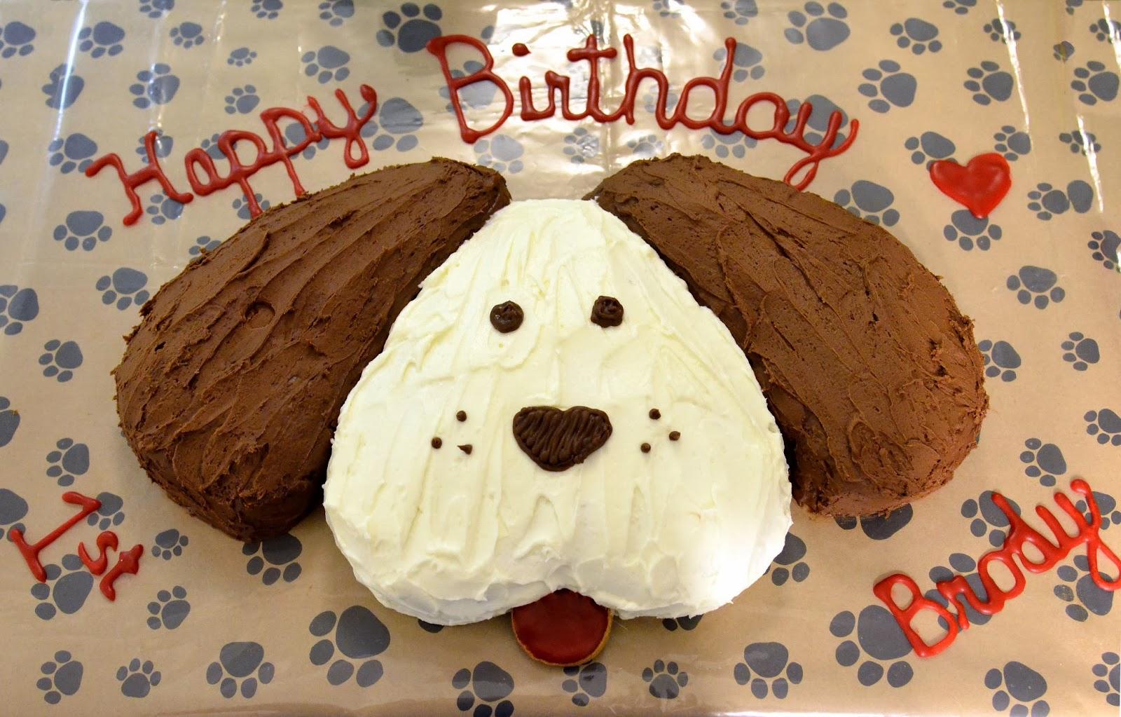 Cake Easy Dog Shaped Birthday