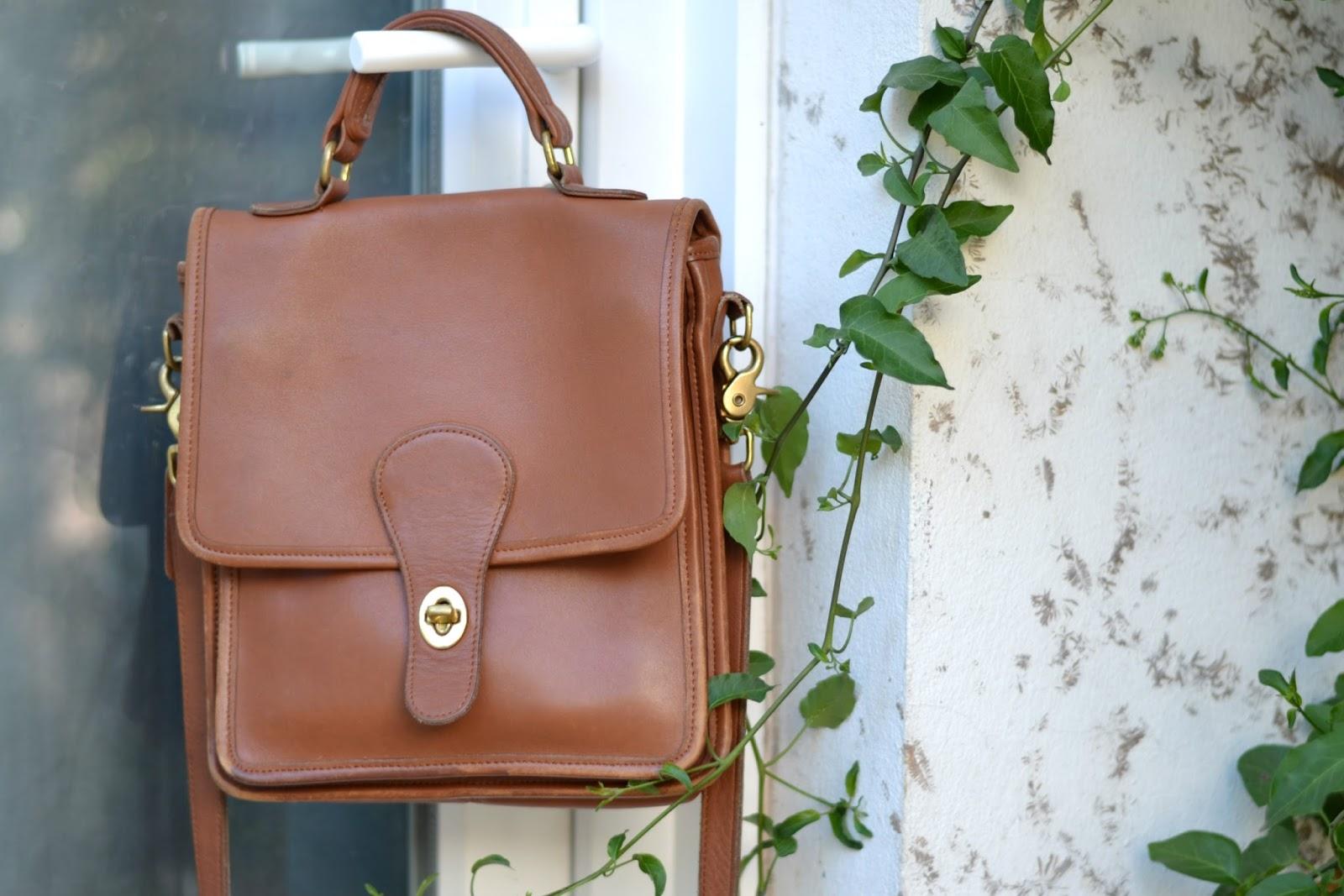 vintage coach brown crossbody bag