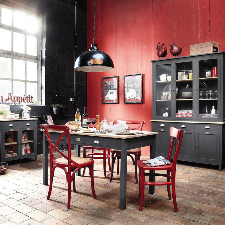 le blog belmon d co id es d co murs avec une touche de rouge. Black Bedroom Furniture Sets. Home Design Ideas