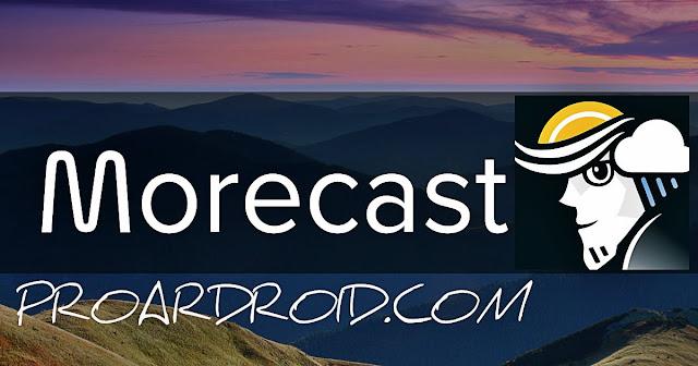تطبيق Morecast Weather & Meteo Radar v4.0.5 لتوقع حالة الطقس على الاندرويد logo