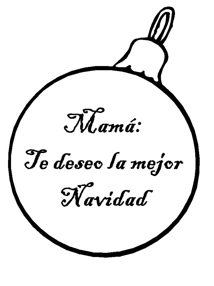 Globo de Navidad para mamá con mensaje