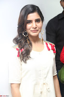 Samantha Ruth Prabhu Smiling Beauty in White Dress Launches VCare Clinic 15 June 2017 006.JPG