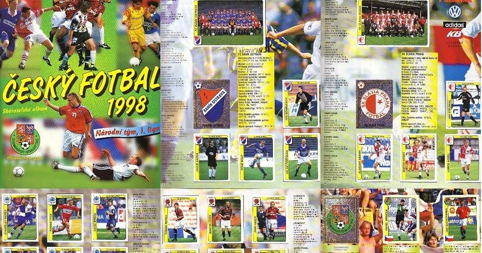 Fotbal Slavia Pinterest: Álbuns Escaneados Digitalizados: Álbum Cesky Fotbal 1997