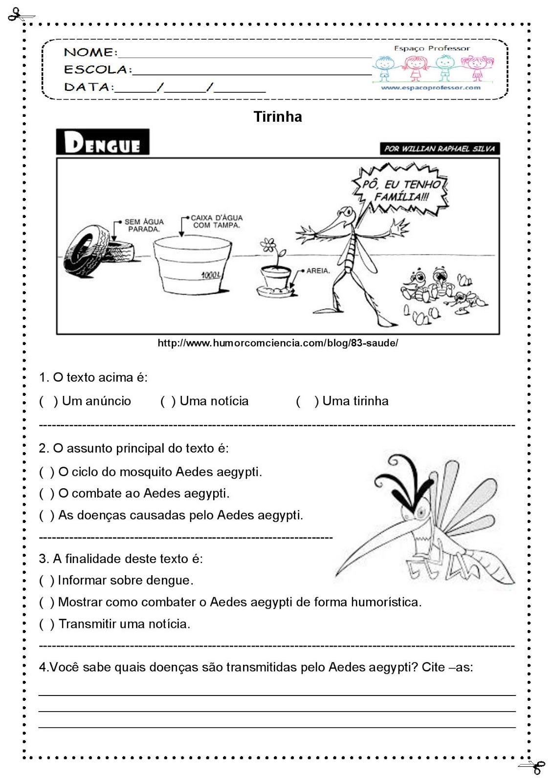Zika Virus Worksheet