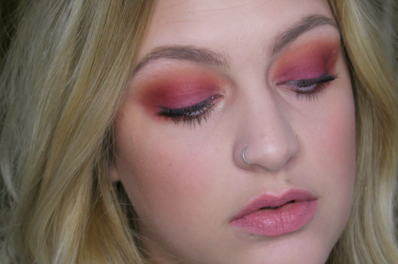 Warm sultry eyes  and nude lips