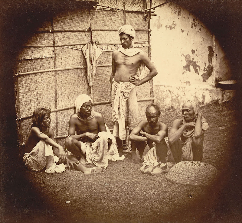 Five Men of Unidentified Ethnic Group from Eastern Bengal - 1860's