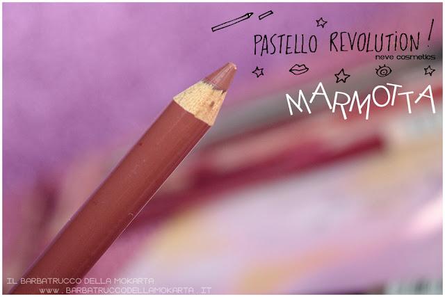 marmotta BioPastello labbra Neve Cosmetics  pastello revolution