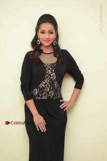 Telugu Actress Manasa Manohar Stills in Black Long Dress at Naku Nene Thopu Turumu Trailer Launch  0003.JPG