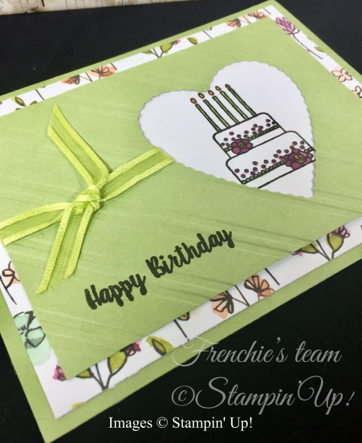Card, Piece of Cake, Be Mine Stitched Framelits, Share What You Love,