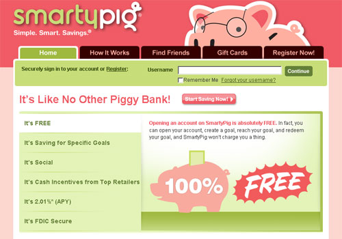 With SmartyPig Reach Your Savings Goals
