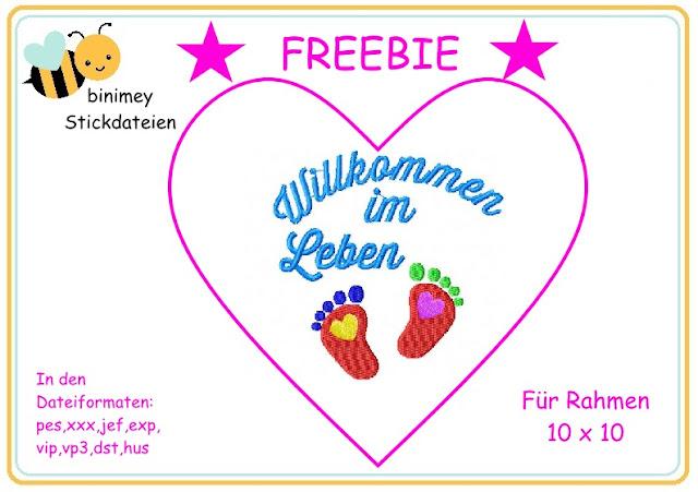 Stickdatei Freebeie free gratis