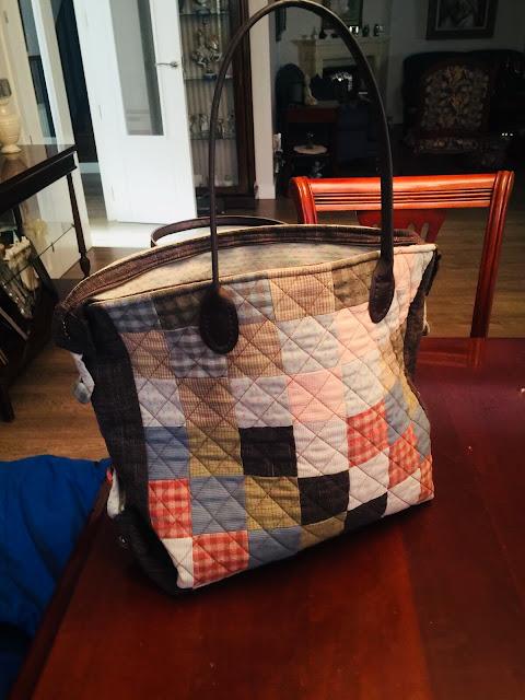 Patchwork: Bolso con telas entramadas japonesas