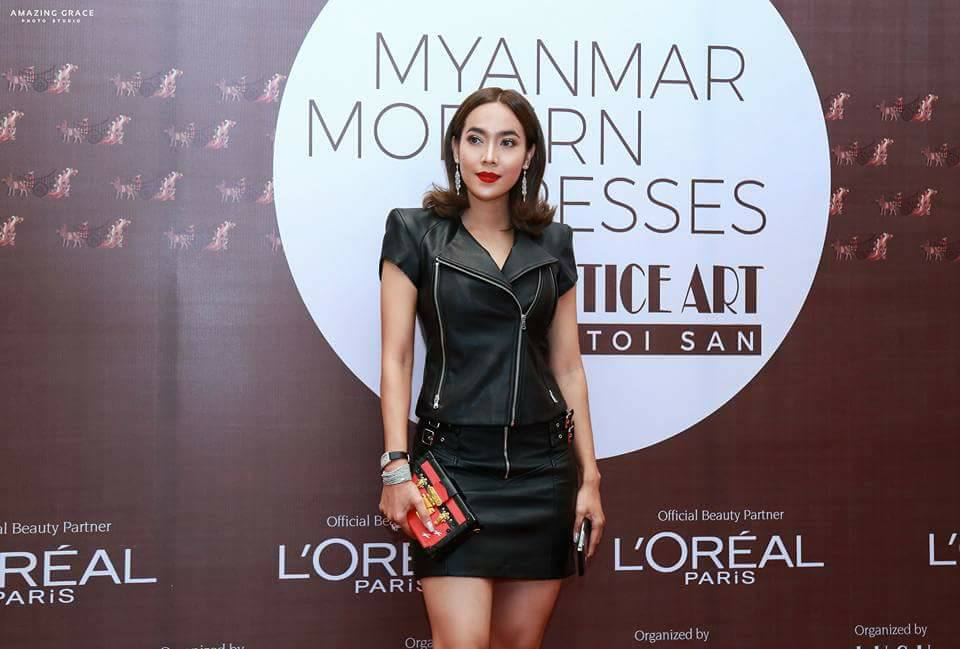 Celebrity of the Week - Moe Hay Ko In Black Outfit