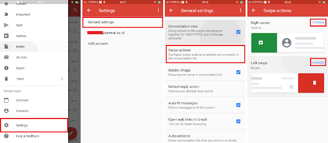 Gmail Swipe Function on Android Can Be Selected