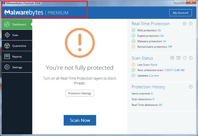 Malwarebytes Anti-Malware 3.0.6 Premium Serial Key