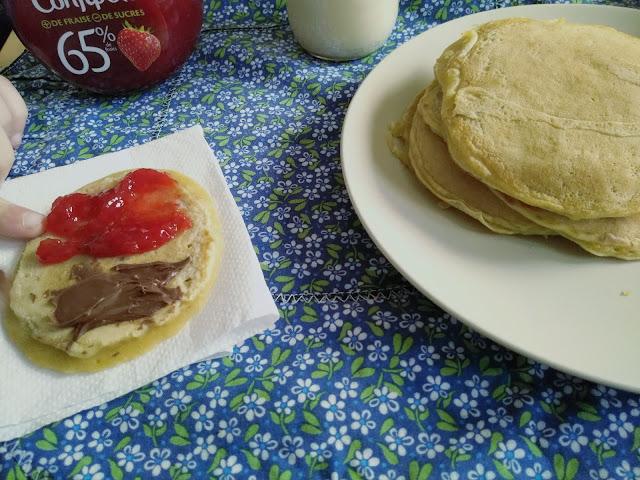 pancakes, végétaliens, boisson, soja, flora