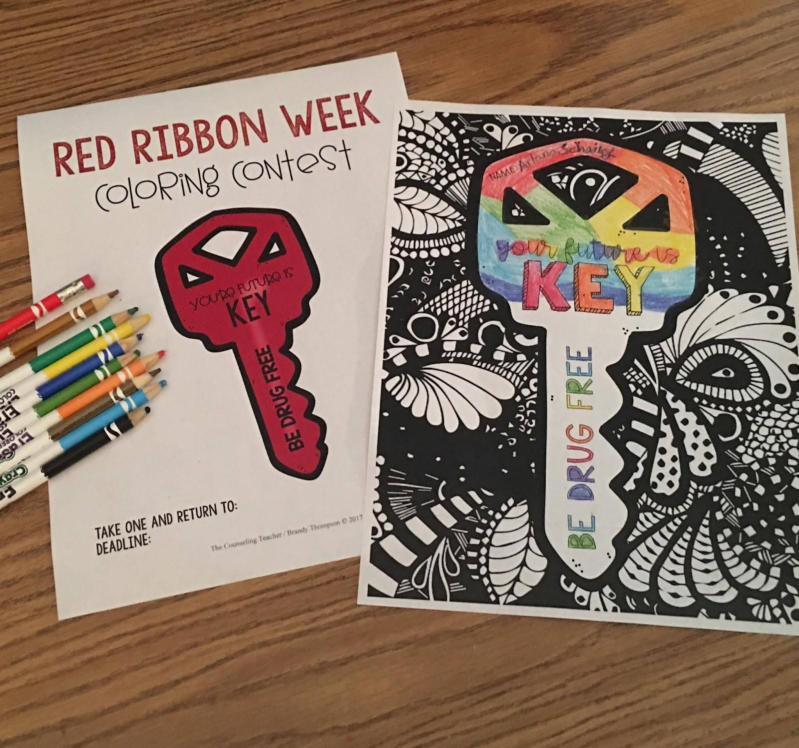 Red Ribbon Week Activities Free Printable Coloring