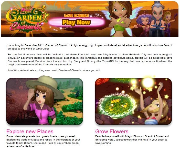 WinxClub4Ever | News™: Winx Club:Garden Of Charmix [game