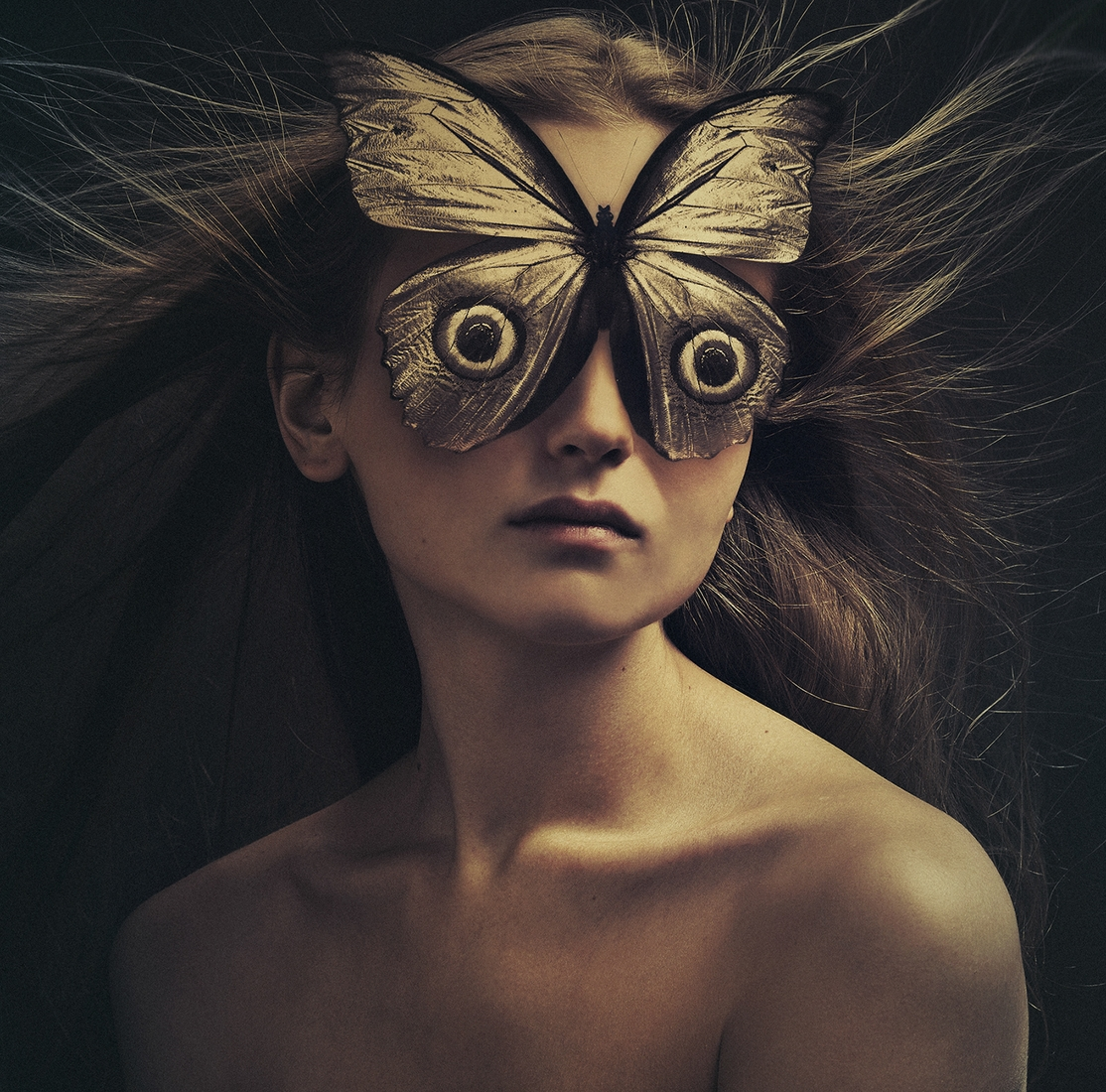 07-Butterfly-Flora-Borsi-Animeyed-Self-Portraits-Surreal-Photographs-www-designstack-co
