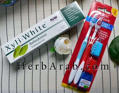 مشترياتي لمنتجات الاسنان والمعجون من اي هيرب