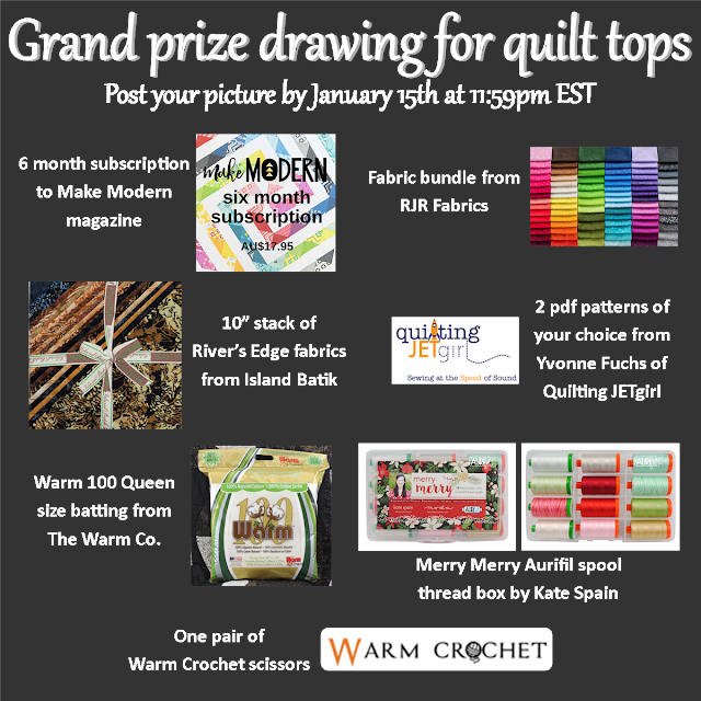 "Grand prize sponsors for the ""I Wish You a Merry QAL"""