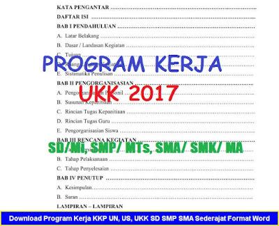 Program Kerja Ujian Kenaikan Kelas SD, SMP, SMA/ SMK (Update 2017)
