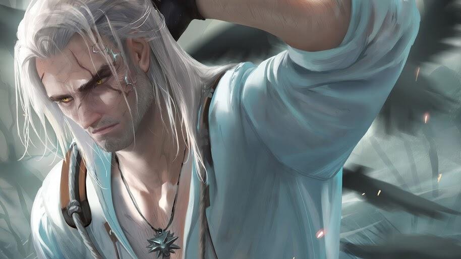 Geralt of Rivia, Art, The Witcher 3, 4K, #6.493