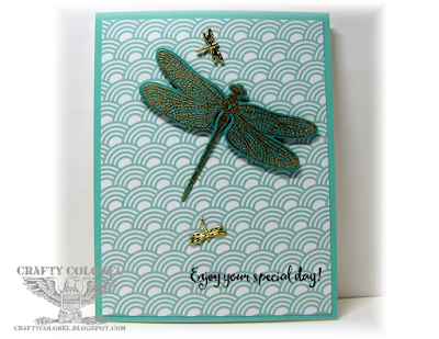 Crafty Colonel Donna Nuce for Cards in Envy Blog, StampinUp Dragonfly Dreams, Quick card