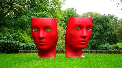 Comedy and Tragedy Red Masks