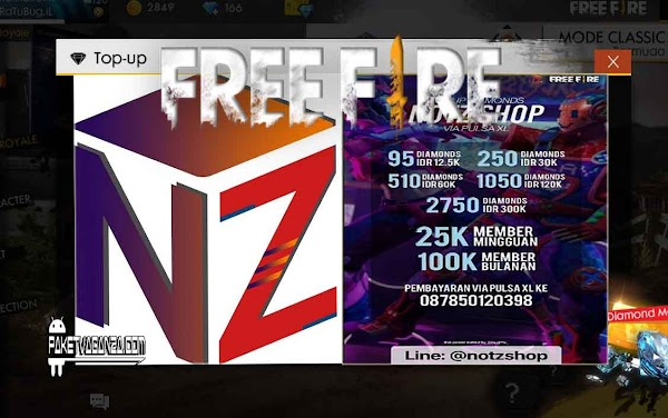 Notz Shop FF Top Up All Item Garena Free Fire Murah & Cepat