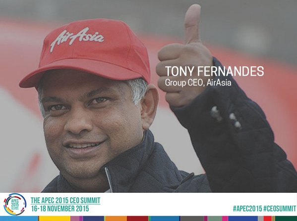 Image: Tony Fernandes, Co-founder and CEO of AirAsia Group
