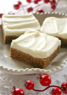 Soft Gingerbread Cookie Bars