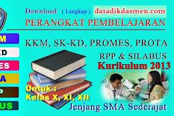 (Lengkap SMA) Perangkat Pembelajaran Lengkap SMA Kelas X, XI & XII Kurikulum 2013 Revisi 2017