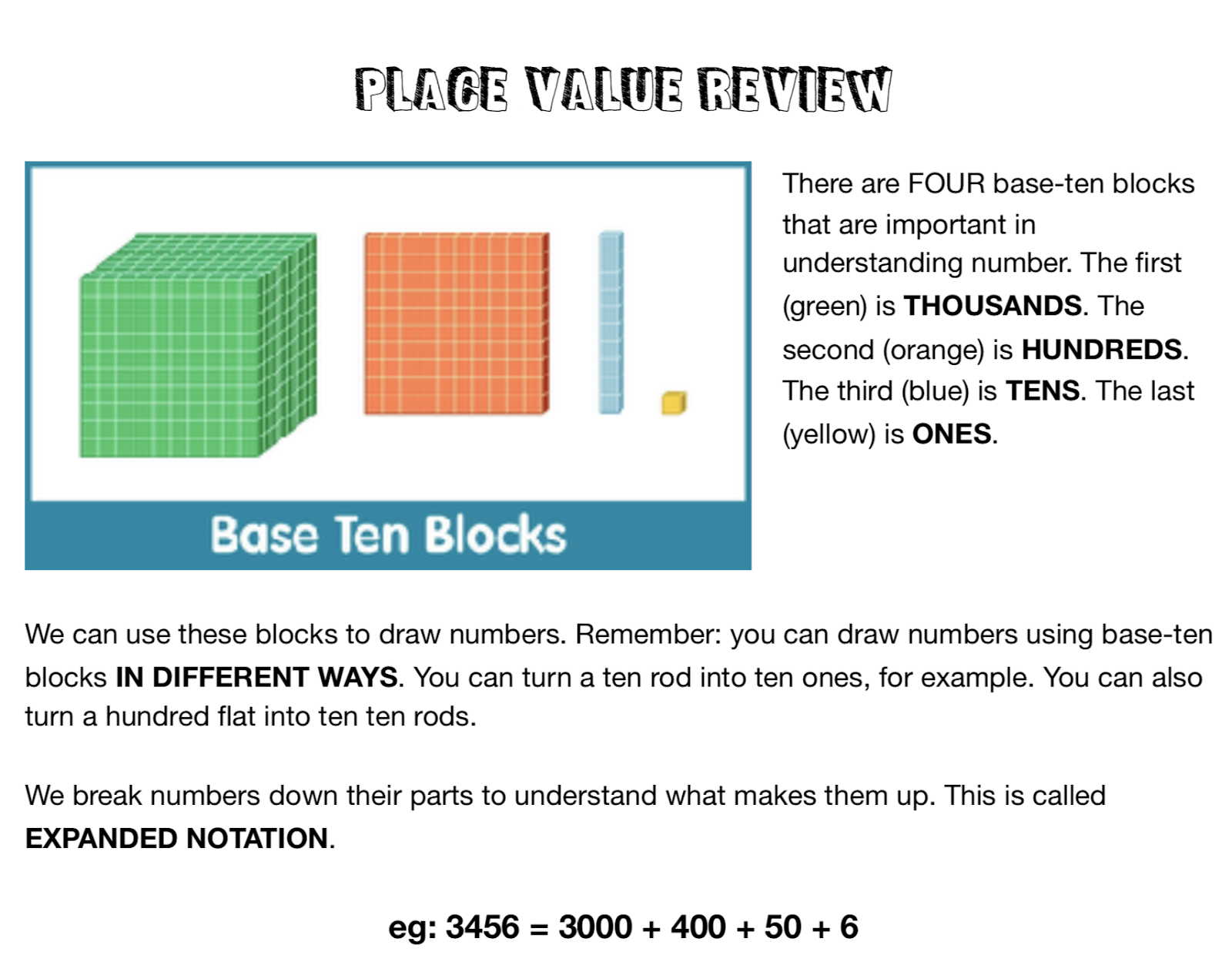 Place Value Review - PLEASE READ! | Mr  Reimer's Classroom Blog
