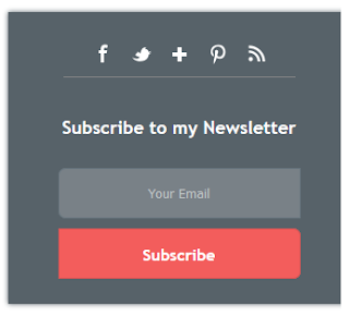 6 Stylish Email Subscribe Widget