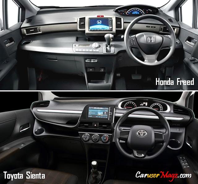 Perbandingan Dashboard Toyota Sienta vs Honda Freed