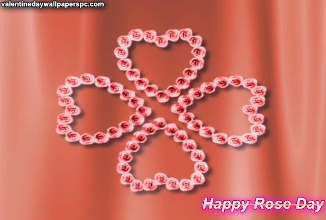 Happy Rose Day Heart Group Wallpaper