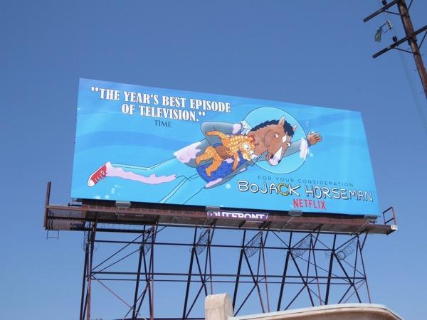 BoJack Horseman season 3 Emmy billboard