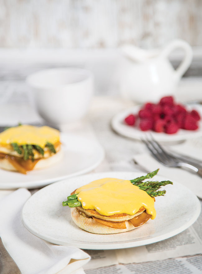 Veggs Benny - a vegan eggs benedict alternative recipe from The Edgy Veg cookbook