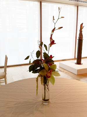 Wedding centerpieces at the PAFA by Stein Your Florist Co.