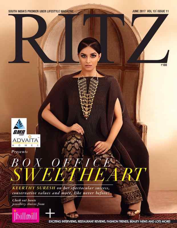 Keerthy Suresh Poses on Ritz Magazine June 2017