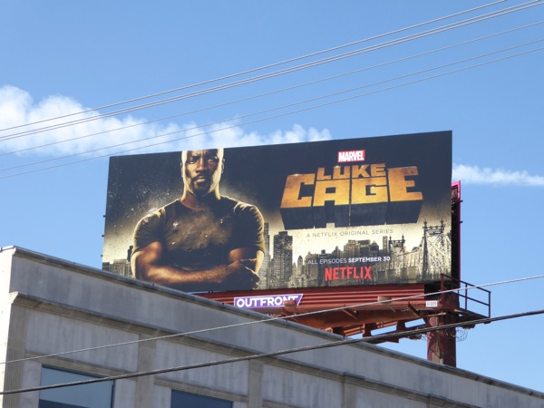 Marvel Luke Cage TV series billboard