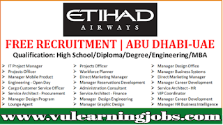 Etihad Airways Careers - Jobs In Dubai