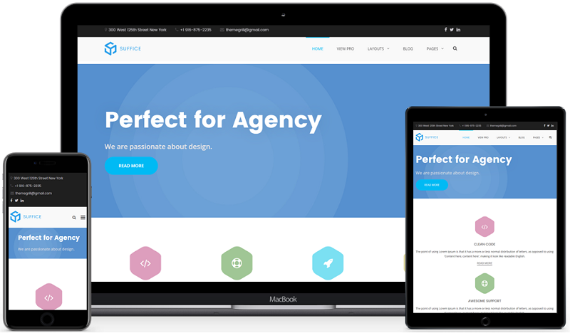 Suffice Creative Agency WordPress Theme Free Download